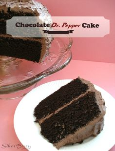 I don't even like Dr Pepper but this looks too yummy and I bet it tastes even better  Silver Boxes: Chocolate Dr. Pepper Cake