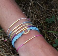 Make these modern, simple gold tube bracelets; Video tutorial from Saved By Love Creations