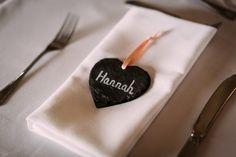 Suzanne Neville novello andy rapkins highcliffe castle sopley mill hampshire slate heart wedding favour