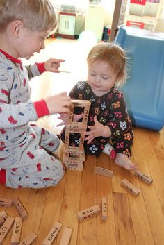 Momma's Fun World: Sight word learning with block game