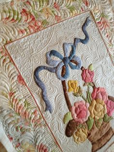 Longarm Quilting, Free Motion Quilting, Machine Quilting, Quilting Projects, Quilting Designs, Quilting Ideas, Machine Embroidery, Quilt Border, Crochet Quilt