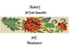 Peyote Pattern for bracelet: Turkey INSTANT DOWNLOAD от Beadamor