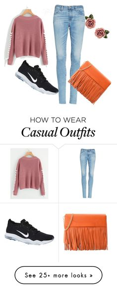 """Casual #1"" by sneakycats on Polyvore featuring AG Adriano Goldschmied, NIKE, Boutique Moschino and Dolce&Gabbana"