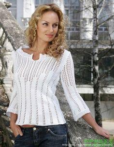 Delicadezas en crochet Gabriela: Suéter jersey