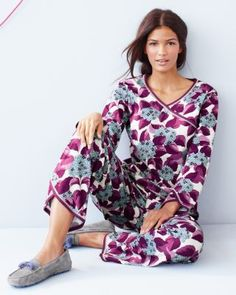 Asian Wrap Pajamas - Garnet Hill
