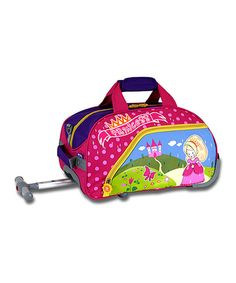 Look at this Princess Rolling Duffel on #zulily today!