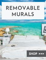 Wallums Wall Murals are a simple DIY wall covering that will dramatically change your space. Unlike traditional wallpaper, our large wall murals are printed on a premium re-positionable wall fabric material. No paste required, just peel and stick. The adhesive is removable and repostionable, which makes installing and removing your mural super easy. #Wall #Murals