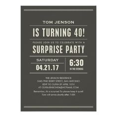 Surprise 40th Birthday Invitations Today Price Drop And Special Promotion Get The Best BuyDiscount Deals