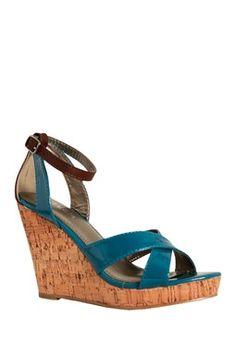 Cordelia Patent Wedge Sandal