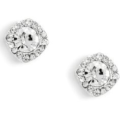 Silver Posh Embellished Studs ($6.90) ❤ liked on Polyvore featuring jewelry, earrings, stud earrings, silver jewellery, silver earrings, silver jewelry and studded jewelry
