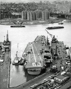 USS_Saratoga Brooklyn1956 by jarapet,
