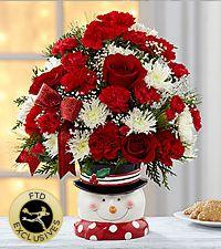 Snowman Sensation Holiday Bouquet
