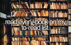 Read every book on my to-read list