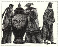 """Ashes in Urn"" by Edward Gorey (Courtesy of the Gorey Trust)"