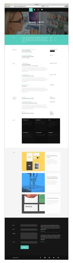 Typebig Digital Resume by Ye Joo Park, via Behance