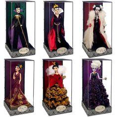 NEW Disney Villains Complete SET 6 Limited Edition Designer Dolls + Gift Bags