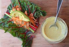 Swiss Chard Veggie Wraps Maybe try this using different veggies. Raw Food Recipes, Vegetarian Recipes, Healthy Recipes, Healthy Snacks, Healthy Soy Sauce, Soy Sauce Alternative, Veggie Wraps, Lettuce Wraps, Salad Wraps