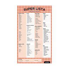 Super Lista - Monoblock Muy útil para ir al super!