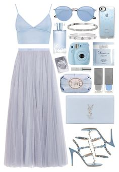 Untitled #1011 by clary94 on Polyvore featuring Boohoo, Needle & Thread, Valentino, Cartier, Ray-Ban, Casetify, Urban Decay, Orlane, Lapcos and Fresh