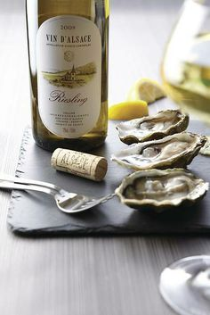 Huîtres et Riesling d'Alsace - Photo VinsAlsace.com