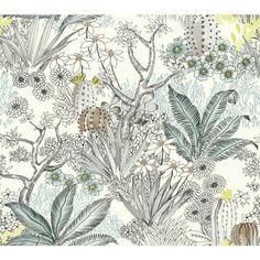 York Wallcoverings Outdoors In Flowering Desert Wallpaper
