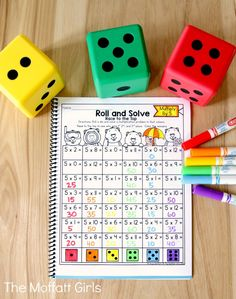 Why can't practicing multiplication facts be fun? Turn math into a game and have your students multiply with the Multiplication Roll and Solve NO PREP Packet! Teaching Multiplication, Teaching Math, Fractions, Math For Kids, Fun Math, Math Resources, Math Activities, Math Coach, Math Intervention