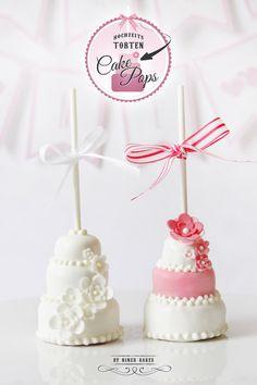 {Anleitung} Etwas Besonderes für alle Brautpaare: 3 stöckige Hochzeitstorten Cake Pops | niner bakes (Bake Ideas Cupcakes)