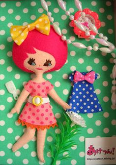 So cute. Felt doll