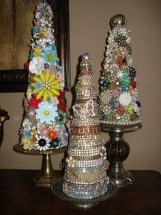 My jewelry trees...love love love. What a good idea for that family heirloom jewel's that you want to keep, but don't know what to do with.