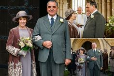 Downton Abbey wedding spoiler pictures revealed, as beaming Mr Carson and Mrs Hughes finally marry - Mirror Online