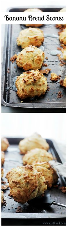 Banana Bread Scones | www.diethood.com | The sweet and delicious taste of Banana Bread in a Scone!