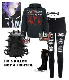 """Emo"" by kaitlyn-mcalister ❤ liked on Polyvore featuring Glamorous, women's clothing, women, female, woman, misses and juniors"