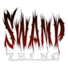 """Swamp Thing"" Volume 3 logo recreated with PhotoShop.  #swampthing #swampthingvolume3 #comics #comictitle #logo #dccomics #vertigo #vertigoimprint #warnerbros #photoshopart"