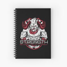 'Strength Be Committed To Yourself Graphic Angry Bull' Spiral Notebook by Workout Tanks, Workout Gear, No Equipment Workout, At Home Workouts, Yoga Workouts, Motivational Quotes, Inspirational Quotes, Gym Motivation Quotes, Fitness Inspiration Quotes
