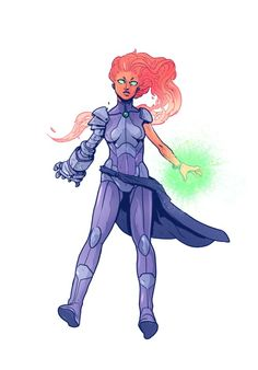 I was going to put this in awesome alternates, until I noticed that Starfire seems to be channeling just a little too much Cyborg with that robo hand