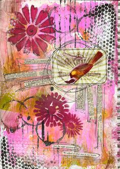 Loads of wonderful ideas for Art Journal pages here!