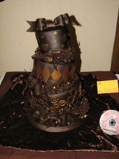 Okay, so this isn't really gothic, but I the twisted, disorganized look of it makes me think of Tim Burton a little. Chocolate and more chocolate! Ever want to die on your birthday?