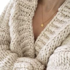 My amazing oversize and so cozy cardigan coat handmade by me with amazing peruvian wool from amazing wool and the gang in beautiful white ivory <3 jewlery from janekoenig