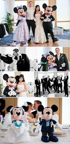 Disneyland Hotel Wedding, Mickey and Minnie, Desneyland Wedding Reception