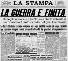 La Stampa - 8 settembre 1943