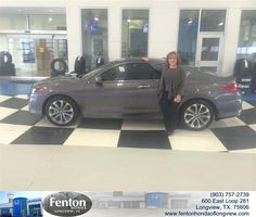 Congratulations to Norma Meeks on your #Honda #Accord Coupe purchase from Jake Johnson at Fenton Honda of Longview! #NewCar