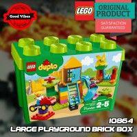 LEGO 10864 Large Playground Brick Box DUPLO Mainan Edukasi Original #thekingbricks #theking #thekingid #kingbricks #gvonline #uhappyihappy #tokolegoterpercaya #tokomainanoriginal #lego10864 Lego Duplo Sets, Lego Ninjago, Nintendo 64, Playground, Avengers, Mint, The Originals, Box, Children Playground
