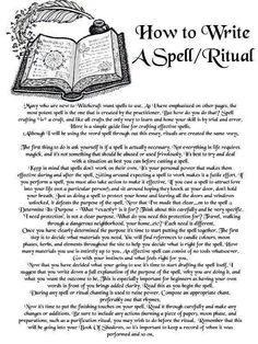 So here are the Basics (of my practice): 1. What is the purpose of this Spell? 2. What time and place will I practice the Spell on/at? 3. What will I use? (Correspondences) 4. Create chant. 5. How can I prepare? 6. How often will I repeat this? (If, at all) 7. Cleanse, Ground, Connect to Spirit and perform Spell or Rite. 8. Repeat, if necessary.