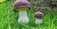 Sådär, äntligen bjuder jag på ett gratismönster igen! Det är ju höst nu så då får det bli ett svampmönster. I år är det verkligen gott om ol...