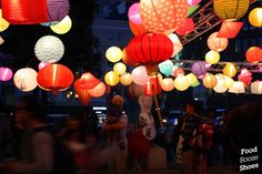 crown hill red paper lanterns front yard night - Google Search