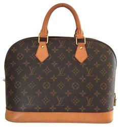 Louis Vuitton Alma Hand Browns Satchel.