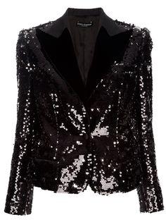 Dolce & Gabbana Sequined Blazer - Spinnaker Women - farfetch.com - StyleSays