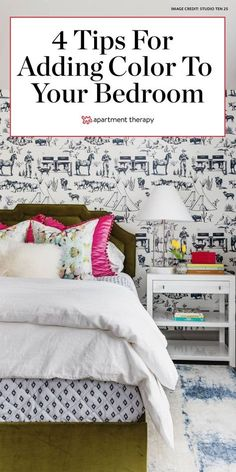 Here's how to use color in a bedroom if you're not into color, according to a designer. #bedroom #colorfulbedroom #colorfuldecor #bedroomideas #bedroomdecor Website Art Deco Bed, Art Deco Home, Bedroom Colors, Bedroom Decor, Bedroom Ideas, Wall Decor, Coverlet Bedding, Shabby, Bed Wall