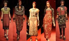 Sabyasachi's collection was inspired by the 60s and 70s, with an African twist - and with a little bit of Parisian chic thrown in as well.