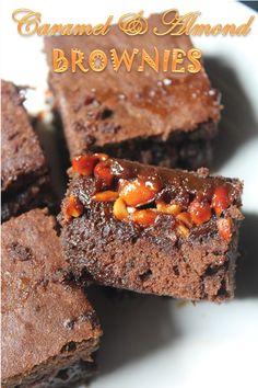 YUMMY TUMMY: Caramel and Almond Brownies Recipe / Salted Caramel Brownies Recipe